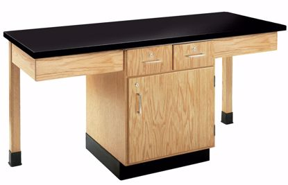Picture of 2 STUDENT CUPBOARD TBL,PHENOLIC