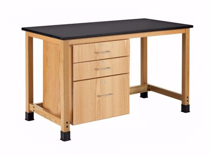 Picture of 2 SMALL DRAWERS ON THE TOP WITH 1 FILE DRAWER