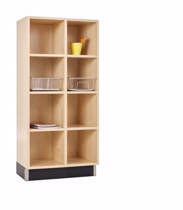 Picture of CUBBY CABINET,MAPLE,8 EQUAL OPENINGS