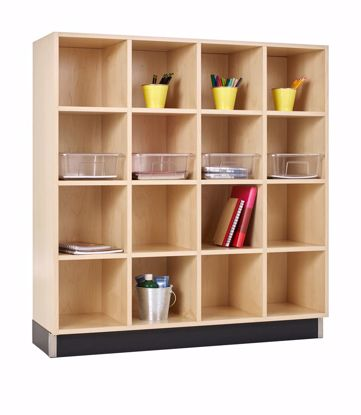Picture of CUBBY CABINET,MAPLE,16 EQUAL OPENINGS