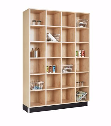 Picture of CUBBY CABINET,MAPLE,24 EQUAL OPENINGS