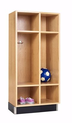 Picture of BACKPACK CABINET,OAK,2 OPENINGS