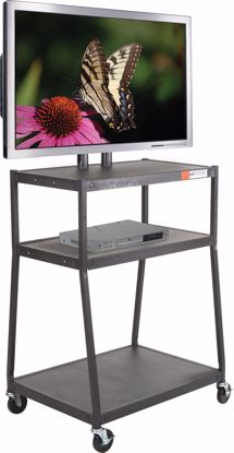 Picture of WIDE BODY FLAT PANEL TV CART (Black) w/o cabinet
