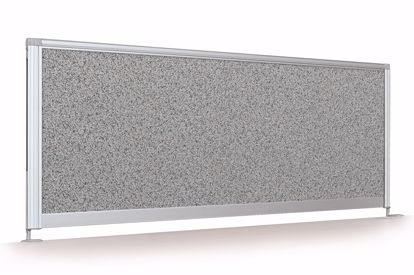 "Picture of Desktop Privacy Panel - 41"" Pebbles Vinyl Lt Quarry"
