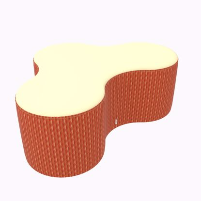 Picture of Amoeba- 48x33.5x18 (Glides, Legs, or Casters) - Fomcore Bench Series