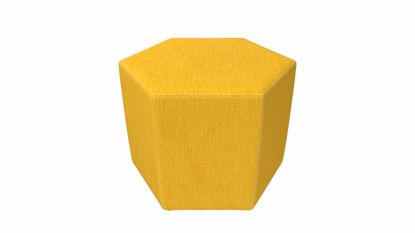 Picture of Honeycomb Ottoman- 24x21x18 (Glides, Legs, or Casters) - Fomcore Ottomon Series