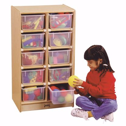 Picture of Jonti-Craft® 10 Cubbie-Tray Mobile Unit - with Clear Trays