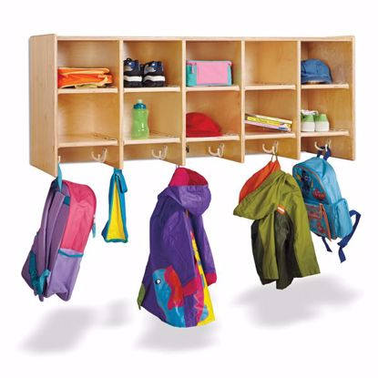 Picture of Jonti-Craft® 10 Section Wall Mount Coat Locker - without Trays