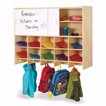 Picture of Jonti-Craft® 10 Section Wall Mount Coat Locker with Storage – without Cubbie-Trays