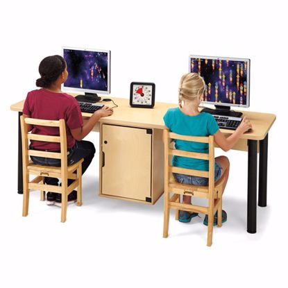 Picture of Jonti-Craft® Dual Computer Lab Table