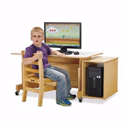 Picture of Jonti-Craft® Apollo Single Computer Desk - White Top