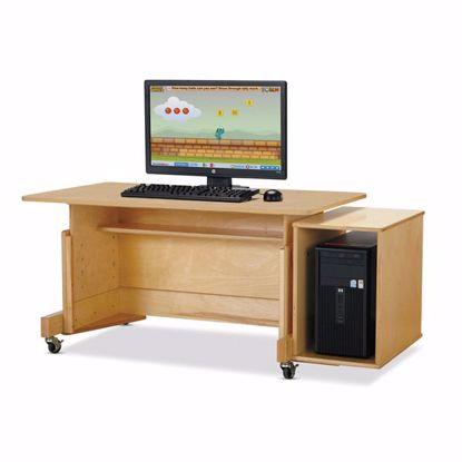 Picture of Jonti-Craft® Apollo Single Computer Desk - Maple Top