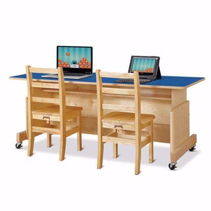 Picture of Jonti-Craft® Apollo Double Computer Desk - Blue Top