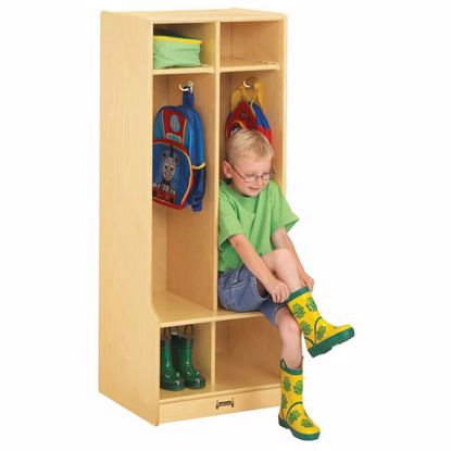 Picture of Jonti-Craft® 2 Section Coat Locker with Step