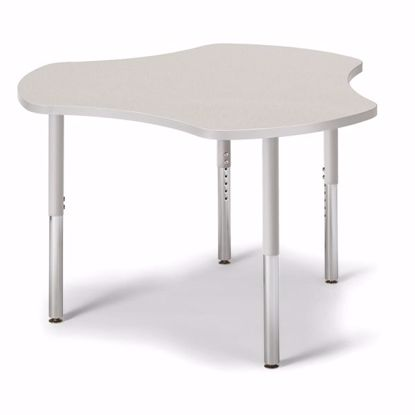 "Picture of Berries® Collaborative Hub Table - 44"" X 47"" - Gray/Gray"