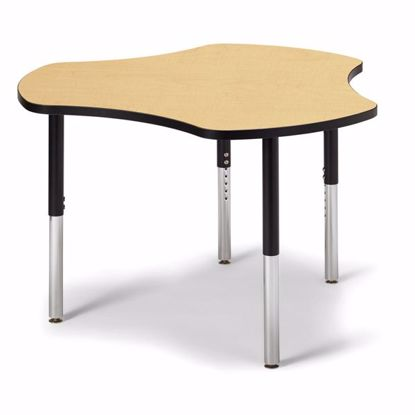 "Picture of Berries® Collaborative Hub Table - 44"" X 47"" - Maple/Black"