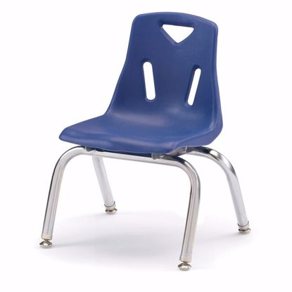 "Picture of Berries® Stacking Chair with Chrome-Plated Legs - 10"" Ht - Blue"