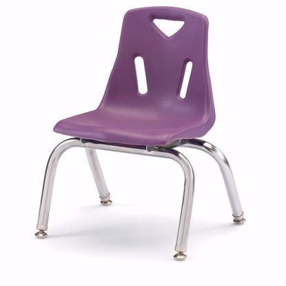 "Picture of Berries® Stacking Chair with Chrome-Plated Legs - 10"" Ht - Purple"