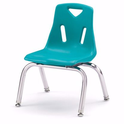 "Picture of Berries® Stacking Chair with Chrome-Plated Legs - 10"" Ht - Teal"