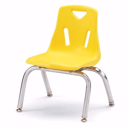 "Picture of Berries® Stacking Chair with Chrome-Plated Legs - 10"" Ht - Yellow"