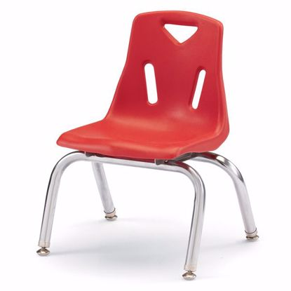 "Picture of Berries® Stacking Chair with Chrome-Plated Legs - 10"" Ht - Red"
