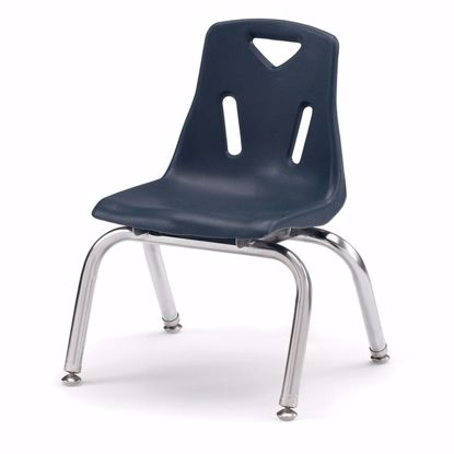 "Picture of Berries® Stacking Chair with Chrome-Plated Legs - 10"" Ht - Navy"
