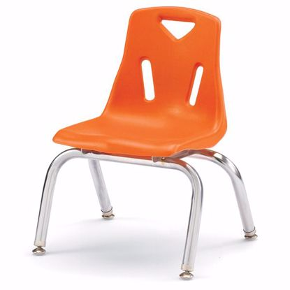 "Picture of Berries® Stacking Chair with Chrome-Plated Legs - 10"" Ht - Orange"
