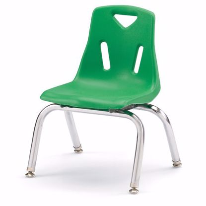 "Picture of Berries® Stacking Chair with Chrome-Plated Legs - 10"" Ht - Green"