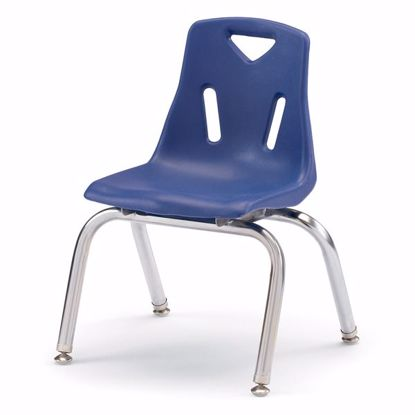 "Picture of Berries® Stacking Chair with Chrome-Plated Legs - 12"" Ht - Blue"