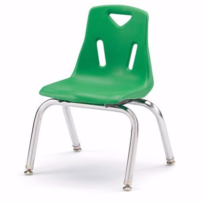 "Picture of Berries® Stacking Chair with Chrome-Plated Legs - 12"" Ht - Green"