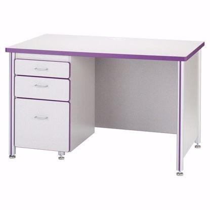 "Picture of Berries® Teachers' 48"" Desk - Gray/Purple"