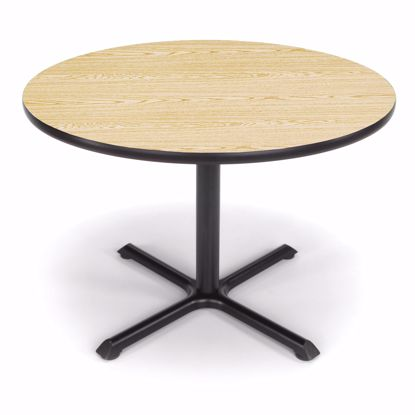 Picture of 42 INCH ROUND OAK TOP/ BLK XT BASE