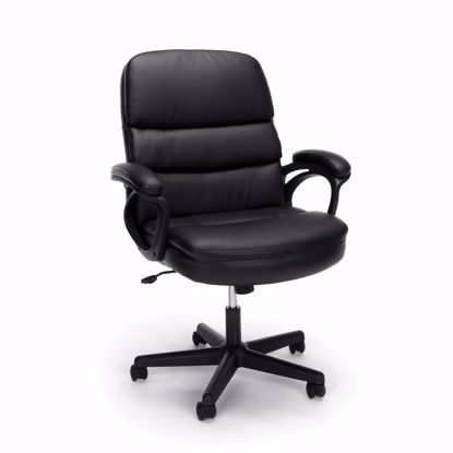 Picture of ESSENTIALS Exec Leather Managers Chair BLK