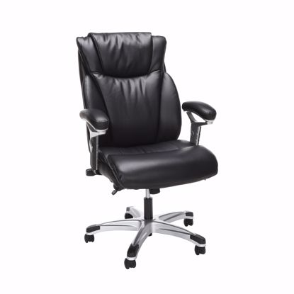 Picture of ESSENTIALS Ergo Executive Leather Chair Blk