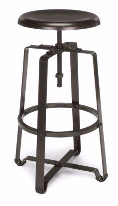 Picture of METAL STOOL- STOOL HT DARK VEIN SEAT & LEGS
