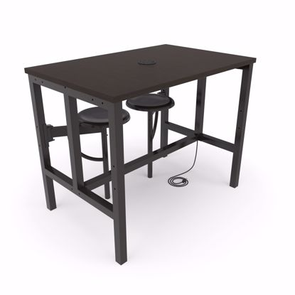 Picture of ENDURE 9004 TABLE W/2 DARKVEIN SEATS WLNT TOP