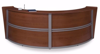 Picture of DOUBLE CURVED RECEPTION STATION - CHERRY