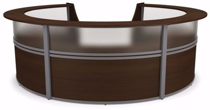 Picture of 5-UNIT MARQUE PLEXI STATION - WALNUT