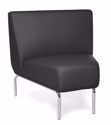 Picture of ARMLESS 45 DEGREE LNGE CHR BLACK PU BACK SEAT