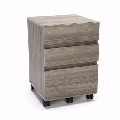 Picture of ESSENTIALS 3-DRAWER MOBILE PED DRIFTWOOD