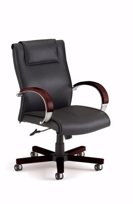 Picture of APEX MID BACK EXECUTIVE LEATHER-MAHOG