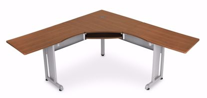 """Picture of WORKSTATION 72""""X72"""" SIDE 24"""" - CHERRY"""