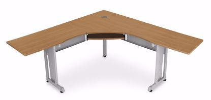 """Picture of WORKSTATION 72""""X72"""" SIDE 24"""" - MAPLE"""
