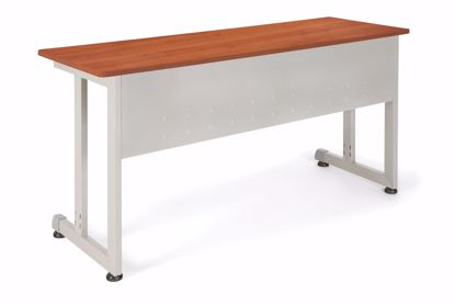 Picture of 20 x 55 TRAINING TABLE - CHERRY W/SILVER