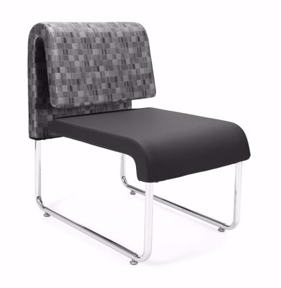 Picture of 2 PACK UNO GEOMETRICS CHAIR NICKEL -PU BLACK