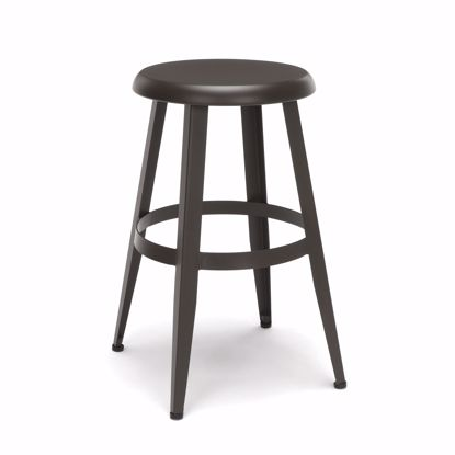 "Picture of Edge Metal Stool 24"" High Antique Brown"