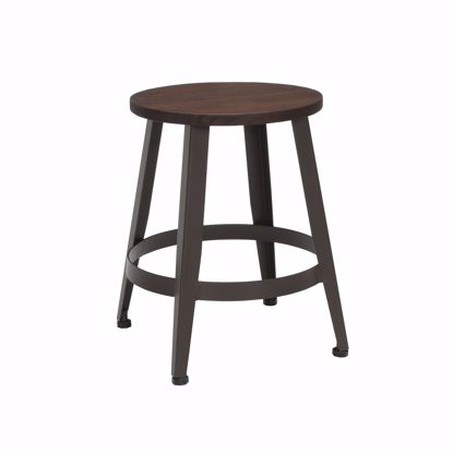 "Picture of Edge Wooden Stool 18"" High Walnut"