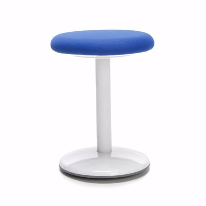 "Picture of ORBIT ACTIVE STOOL 18"" HIGH BLUE FABRIC"