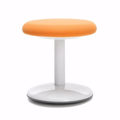 "Picture of ORBIT ACTIVE STOOL 14"" HIGH ORANGE FABRIC"