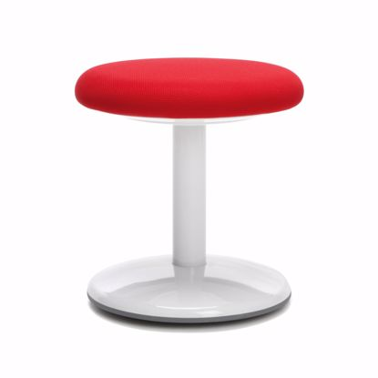 "Picture of ORBIT ACTIVE STOOL 14"" HIGH RED FABRIC"